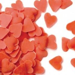 Confetis corazones rojos